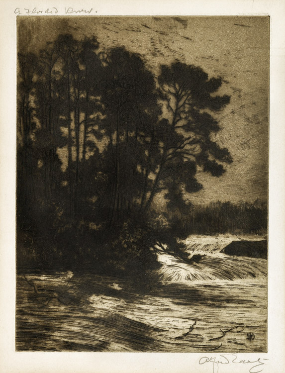 A Flooded River - Etching (KETKM: 39)