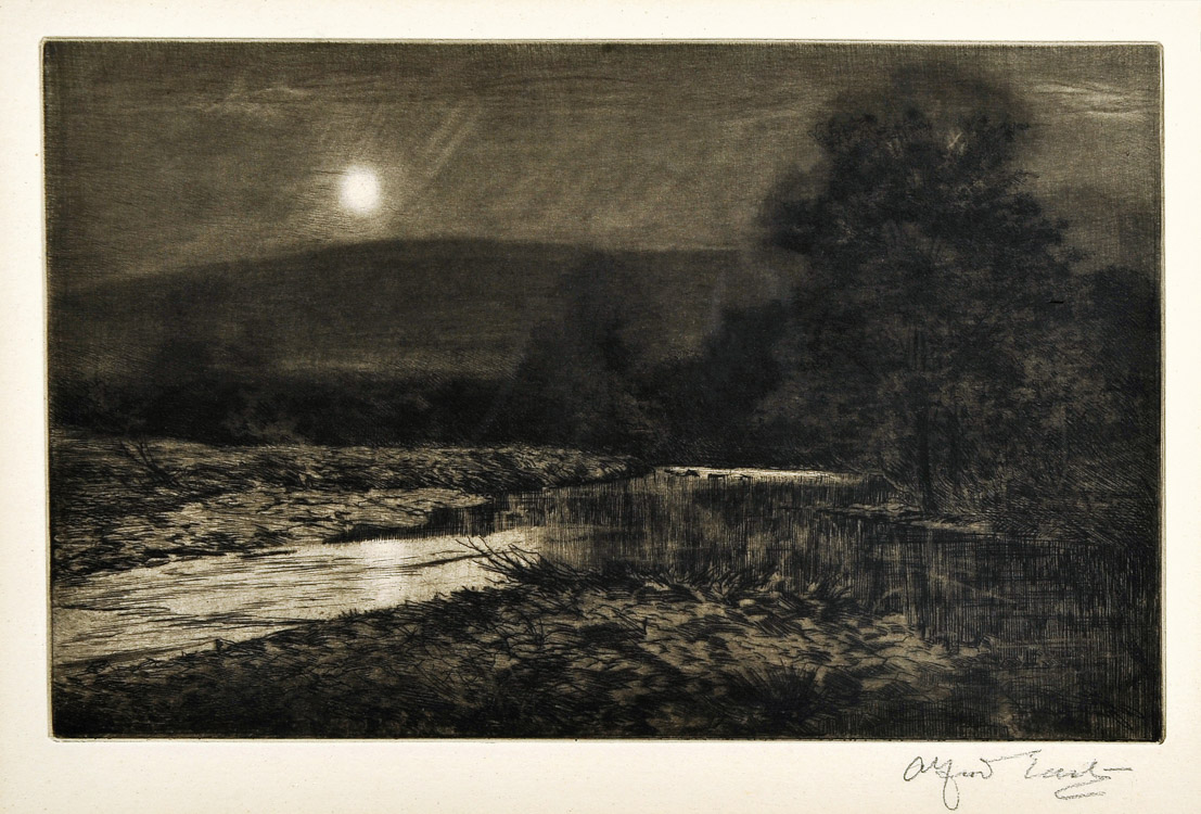 Moonlight on the Dashing River - Etching (KETKM: 61)