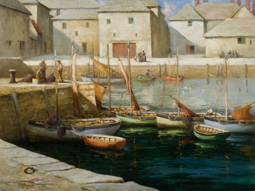 A Sunlit Harbour - Oil (KETKM: 132)