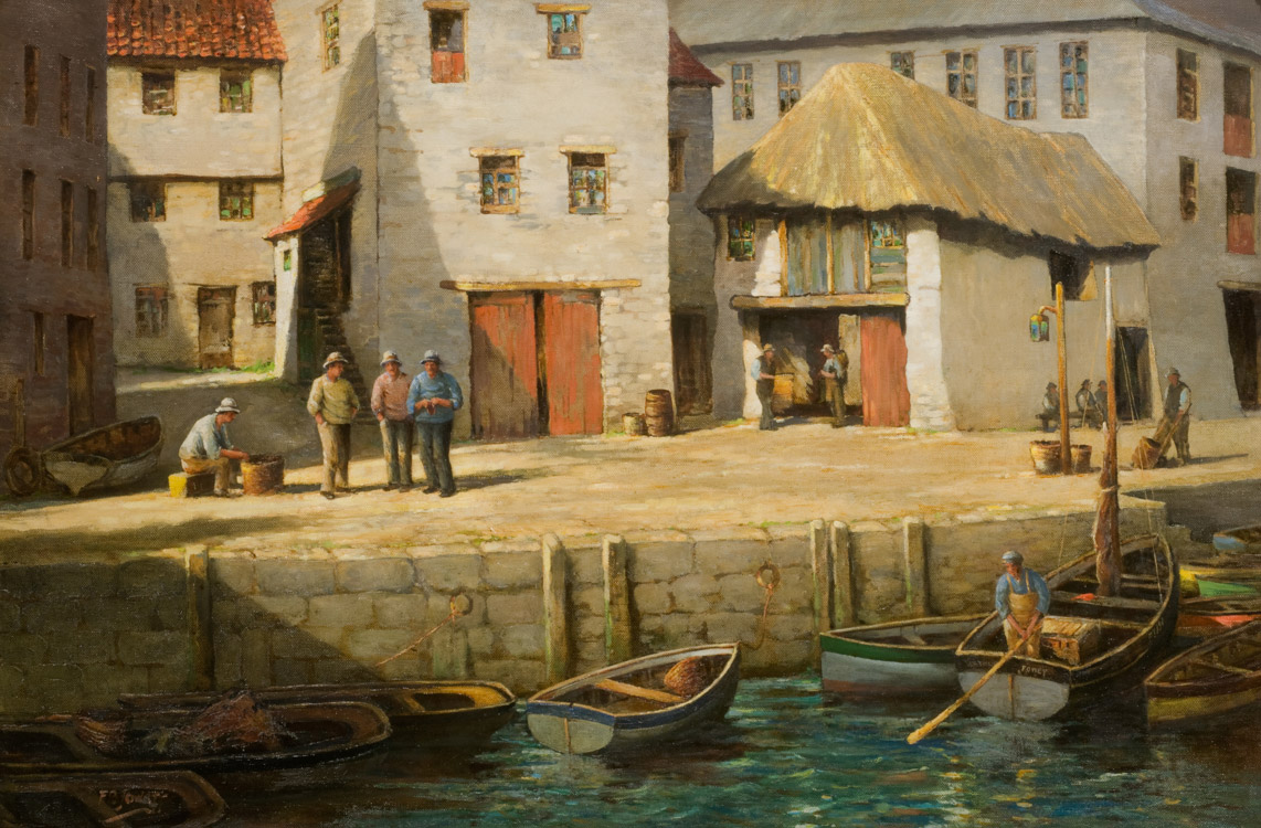 In Mevagissey Harbour, Cornwall - Oil (KETKM: 130)