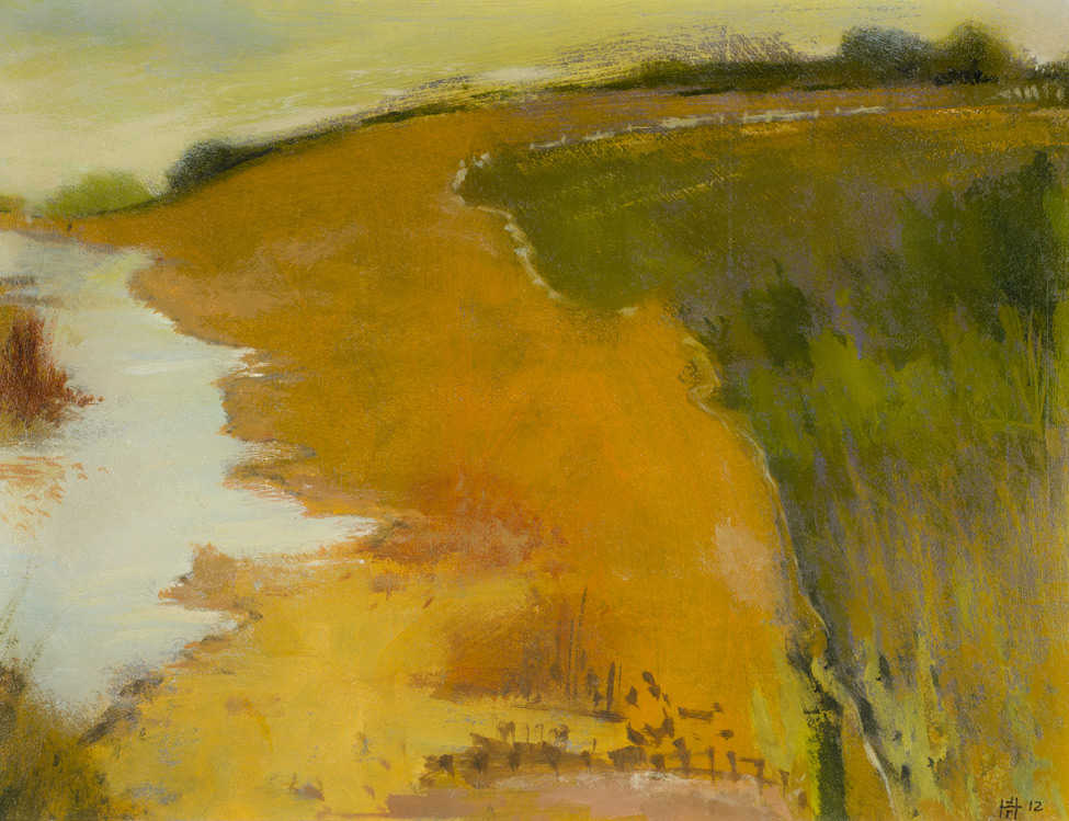 Along the Welland Valley, John Roger Hatton - Acrylic (KETKM: 944)