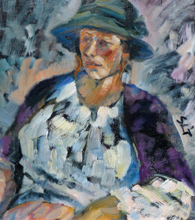 Woman in Hat, Sue Lydia Taylor - Oil (KETKM: 925)