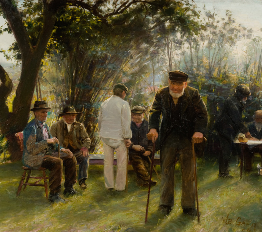 Old Men in Rockingham Road Park - Oil (KETKM: 175)